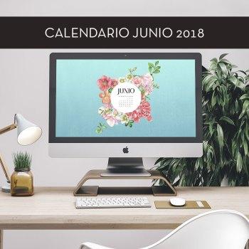 Calendario descargable de junio de 2018