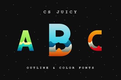 CS Juicy – Color Font (SVG Font) | Recursos gratuitos de julio para diseñadores | mlmonferrer.es