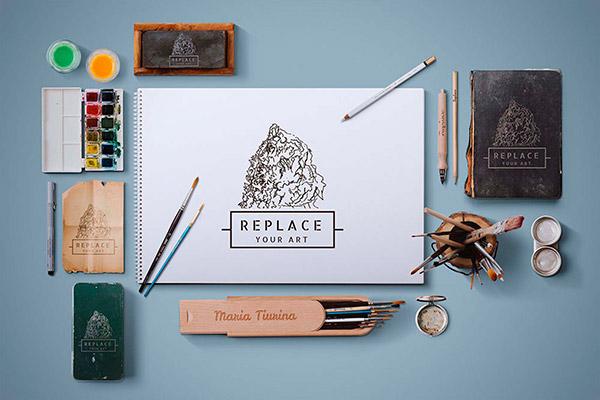 Free Art Equipments Mockups (PSD) | Recursos gratuitos de julio para diseñadores | mlmonferrer.es
