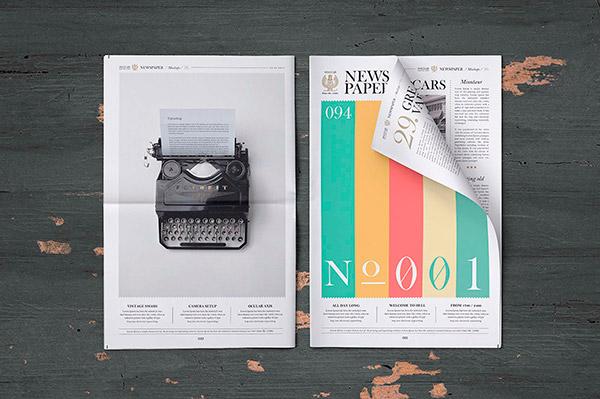 Free Newspaper Mockup (PSD)   Recursos gratuitos de julio para diseñadores   mlmonferrer.es