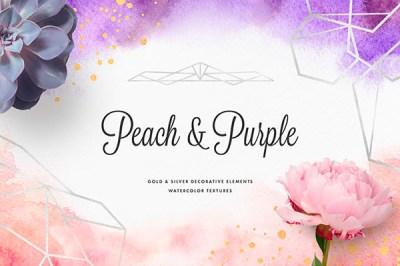 Peach & Purple Artistic Toolkit   Recursos gratuitos de julio para diseñadores   mlmonferrer.es