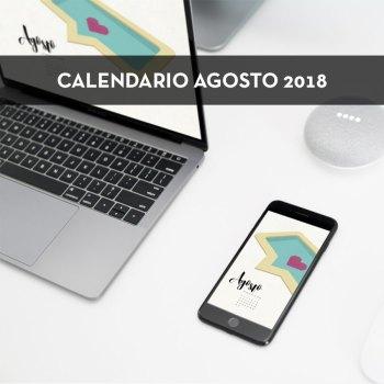 Calendario descargable de agosto de 2018