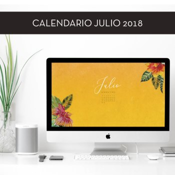 Calendario descargable de julio de 2018