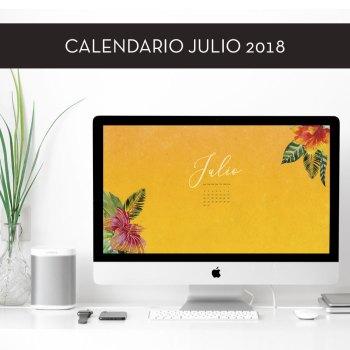 Calendario descargable de julio de 2018