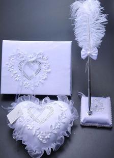 Guest Books Pens Santin Lace Applique Wedding Reception
