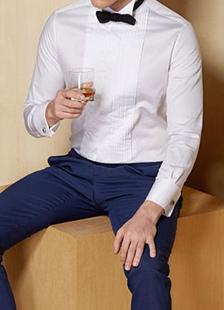 Wedding Dress Shirt White Groom Shirt Button Long Sleeve Cotton Groom Clothing With Cravat
