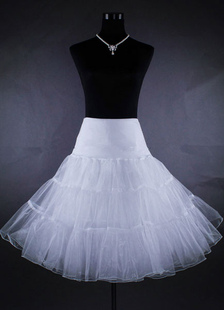 Short Wedding Petticoat Tulle 3 Tiers Netting Ivory Bridal Skirt Slip