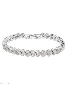 White Wedding Bracelet Cubic Zirconia Bridal Bracelet Jewelry