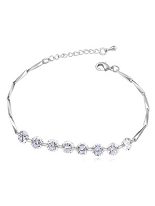 Wedding Chain Bracelets White Beading Bridal Bracelet Jewelry