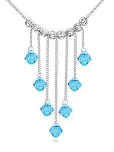 Tassels Wedding Necklace Crystal Beading Bridal Necklace Jewelry