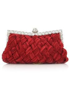 Satchel Shape Silk Evening Bag
