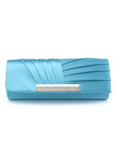 Blue Wedding Handbag Glitter Ruched Handbag