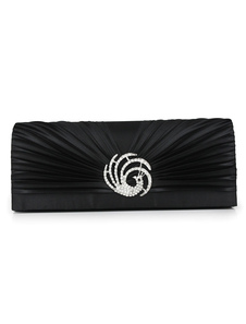 Solid Color Pleated Evening Bag