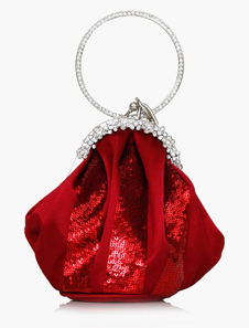Fashion Silk Sequin Evening Bag in 4 Colors