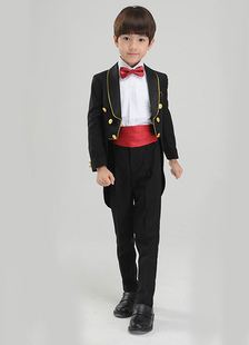 Multicolor Boy's Suit Bow Tie Cummerbund Polyester Children's Suit