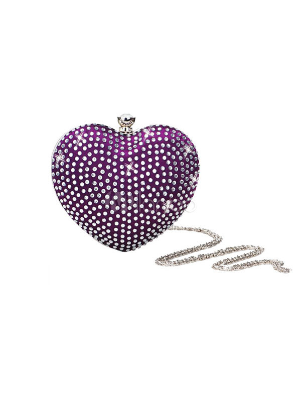 Milanoo crystal heart clutch for 39.99