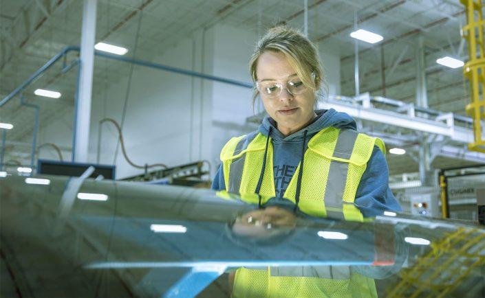 industrial   North Carolina plant   glass   LoBiondo Photography  reflections