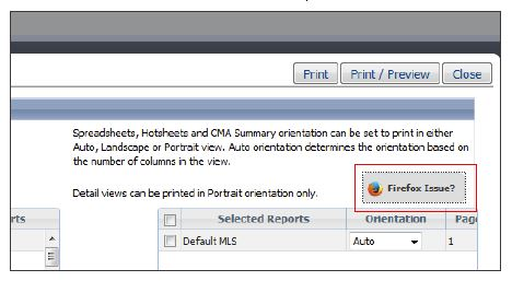 Firefox PDF Landscape Print Output