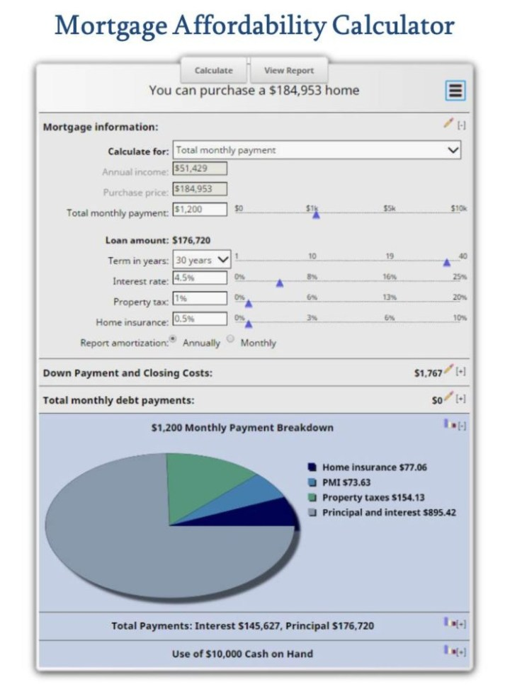 mortgage affordability calculator how much house can i afford