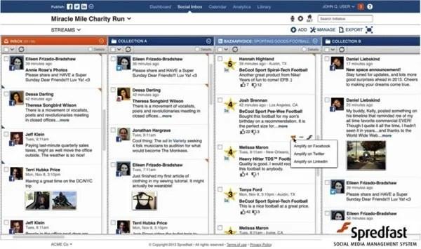 Spreadfast social media screenshot