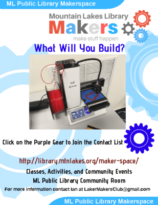 Makers Club – Mountain Lakes Library