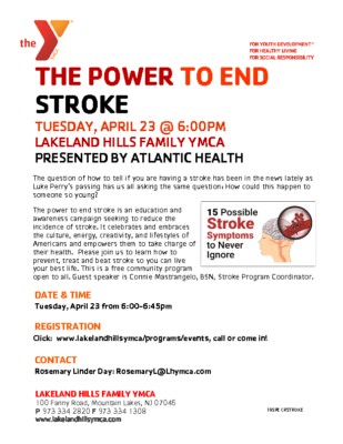 Power to End Stroke – Lakeland Hills Y