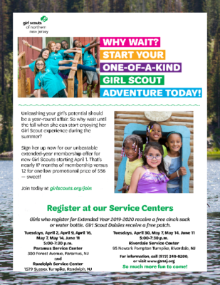 Girl Scout Registration – GS of Northern NJ