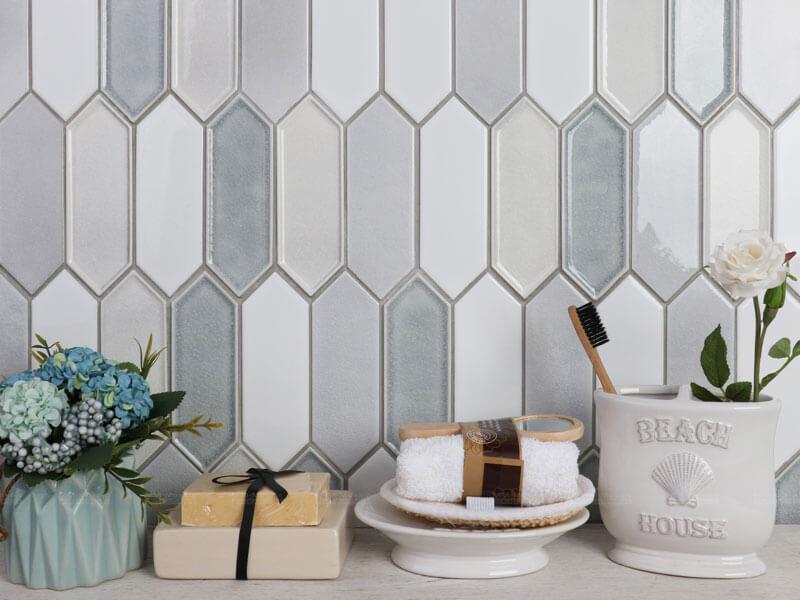 elongated hexagon tile