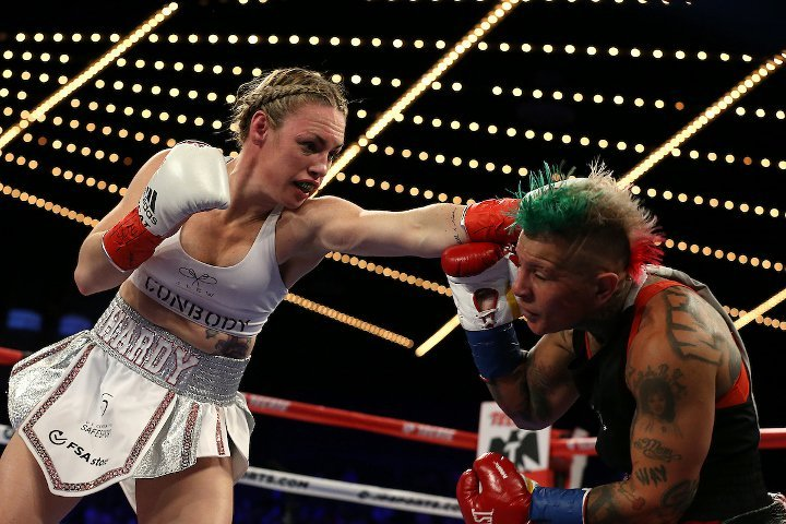 Heather Hardy outslugs Shelly Vincent to win WBO featherweight crown