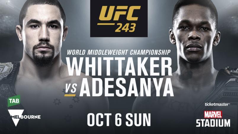 UFC 243: Whittaker vs. Adesanya predictions