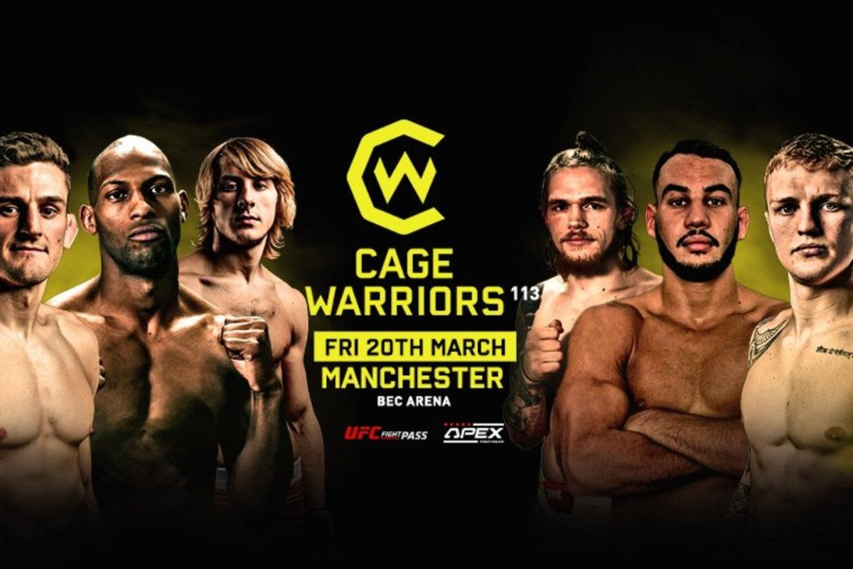 Cagewarriors 113: Blood-soaked Fabinski stuffs Darren Stewart, Mason Jones wins lightweight title