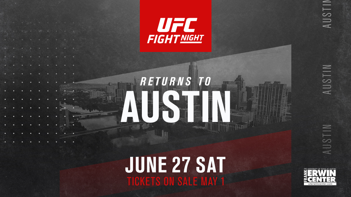 UFC returns to Austin on June 27