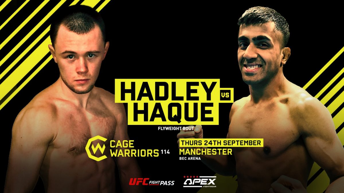 Cage Warriors 114: Jake Hadley makes his debut against Shajidul Haque in Manchester