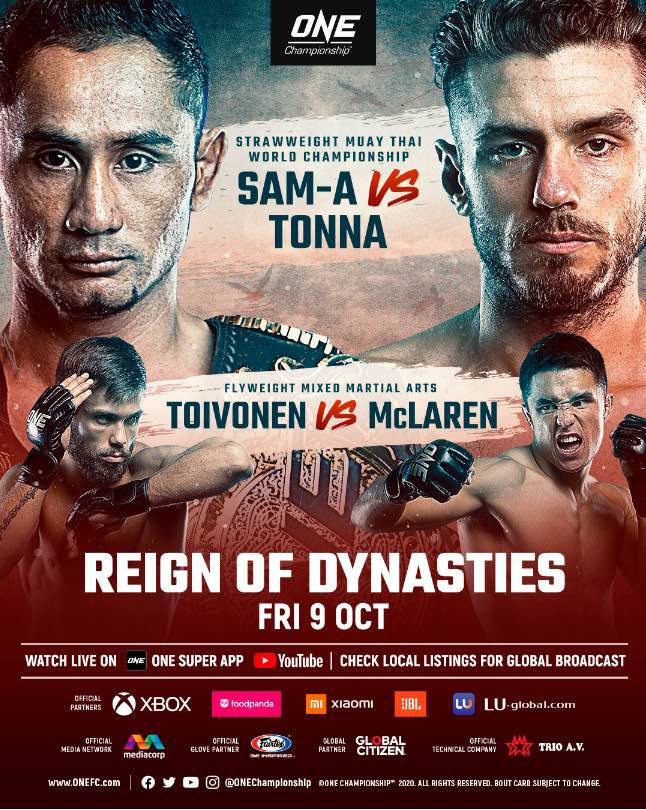 ONE: Reign of Dynasties features strawweight Muay Thai title defence