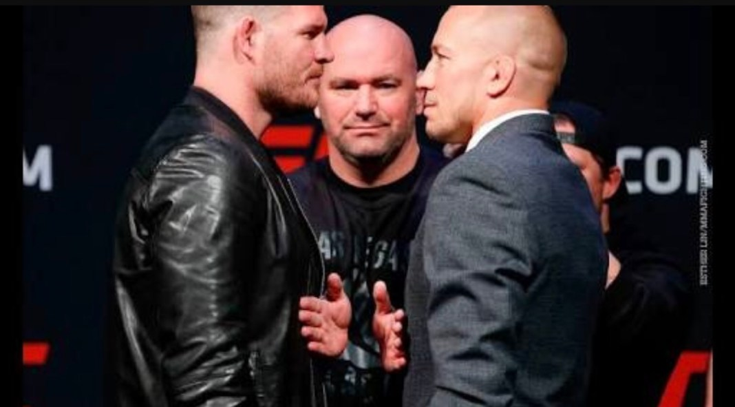 Dana White announces Michael Bisping- George St Pierre is off -