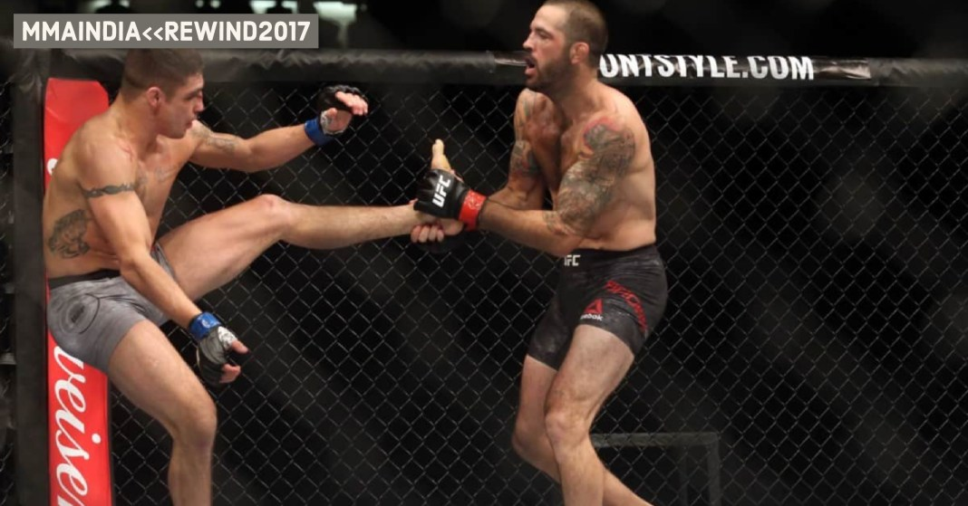 UFC's 15 Best 'Walk-Off Knockouts' from 2017 -