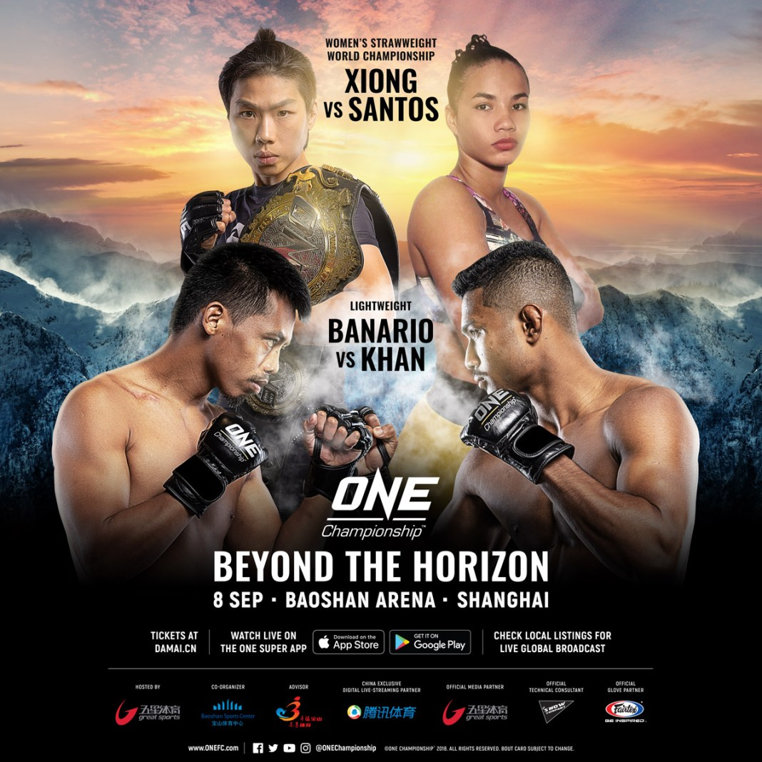 COMPLETE CARD ANNOUNCED FOR ONE: BEYOND THE HORIZON IN SHANGHAI - ONE Championship