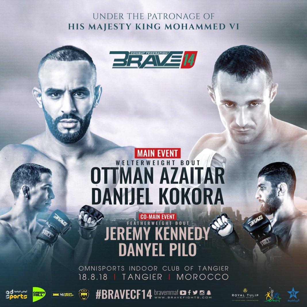 Brave 14's Ottman Azaitar 'thankful' for Morocco fight - Ottman Azaitar