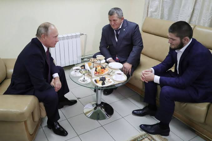 """Russian President Vladimir Putin met with Khabib, called Khabib's victory over Conor """"worthy and convincing"""" - conor"""