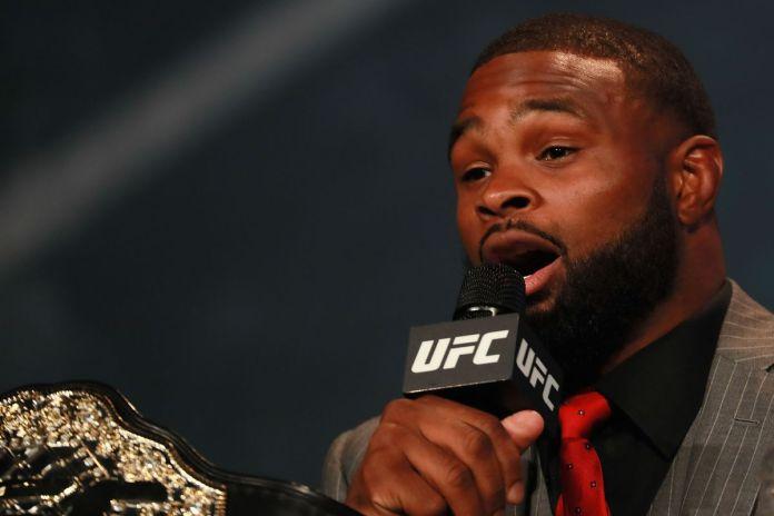 "Tyron Woodley slams the UFC: ""The interim belt is the biggest joke on earth"" -"