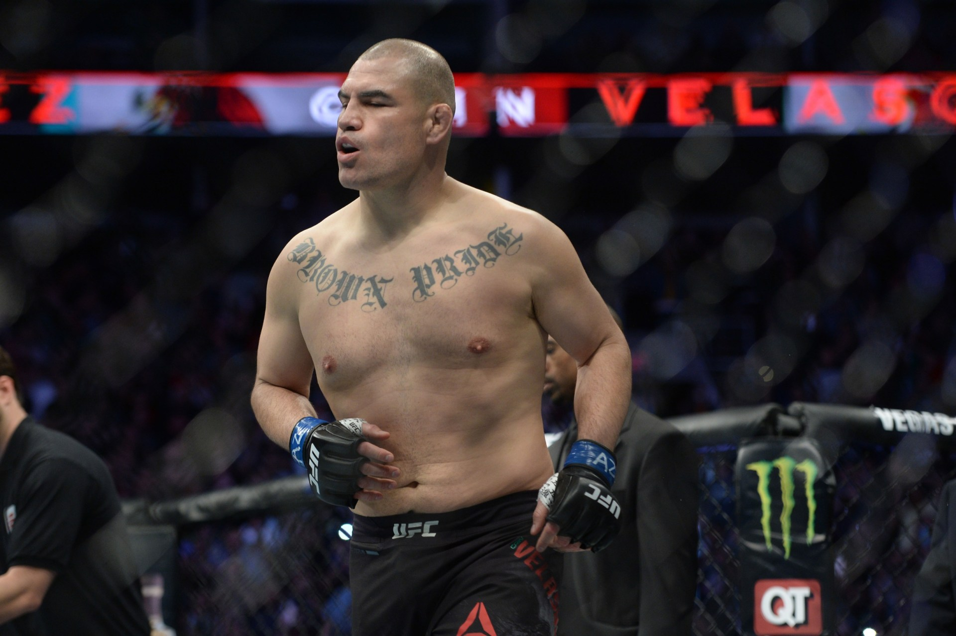 Cain Velasquez's coach says that illegal punch from Francis Ngannou did the damage in the fight -