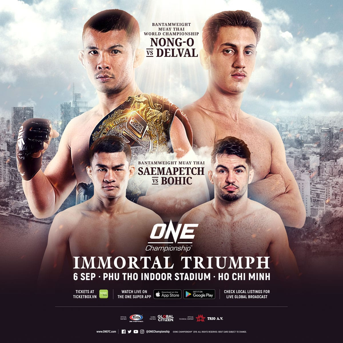 COMPLETE CARD ANNOUNCED FOR ONE: IMMORTAL TRIUMPH IN HO CHI MINH ON 6 SEPTEMBER -