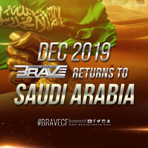 BRAVE CF announces five more events around the world for 2019 - BraveFC