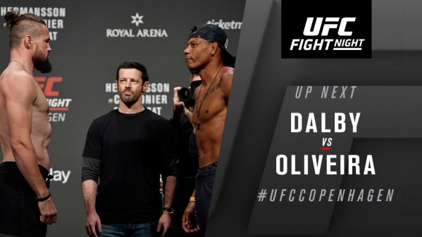 UFC Fight Night 160 Results - Nicolas Dalby Scores a Big Win in His UFC Return Against Charles Oliveira -