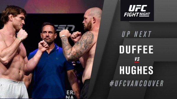 UFC Fight Night 158 Results - Todd Duffee vs. Jeff Hughes Ends in a No Contest Due to Accidental Eye Poke -
