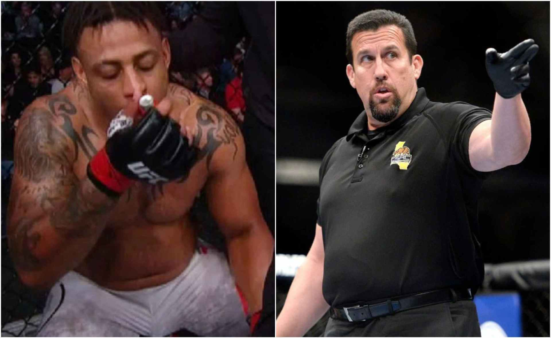 John McCarthy says Greg Hardy didn't try to cheat by using Inhaler at UFC Boston - McCarthy
