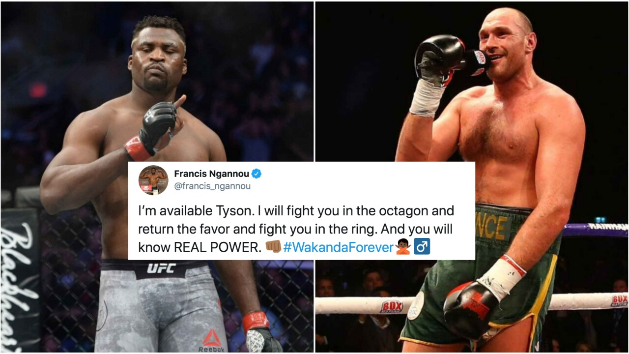 Francis Ngannou willing to fight Tyson Fury both in Octagon and Boxing ring - Fury