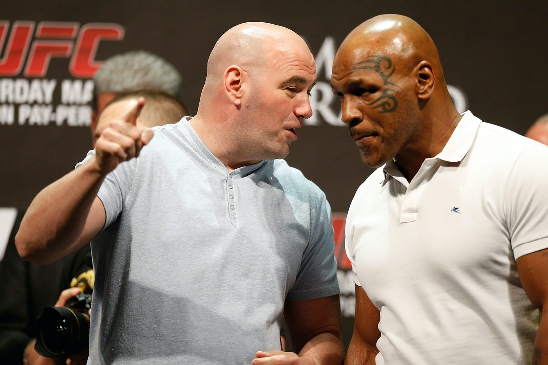 Dana White reveals he tried to give Mike Tyson a TV show to prevent him from fighting again - Mike Tyson