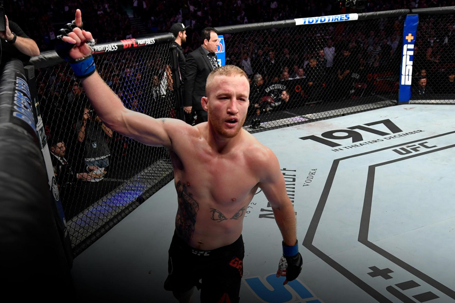 Watch Justin Gaethje claim he doesn't remember the first round after getting 'smoked' by Tony Ferguson - Justin Gaethje