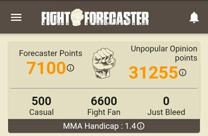 Ashwin Vishwanathan, Fight Forecaster, MMA